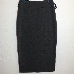 14th & Union Gray Midi Length Pencil Skirt